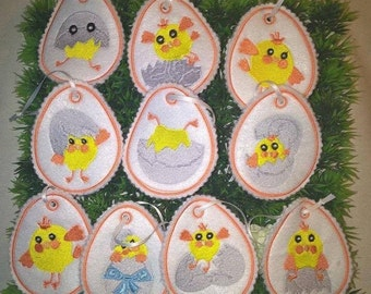 ITH embroidery file E100 eggs set with 19 parts Easter 10 X 10