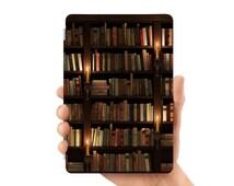 ipad mini 4 case smart case cover for ipad mini air 1 2 3 4 5 6 pro 9.7 12.9 retina display retro vintage book shelf library