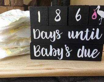 Baby Due Date Countdown Blocks