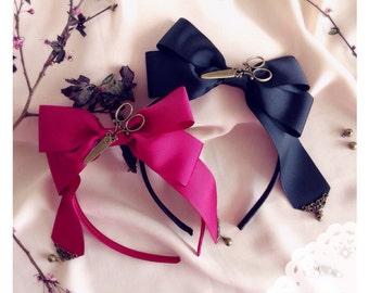 """SALE - Lolita Headdress & Necklace set """"Petit ciseaux"""""""