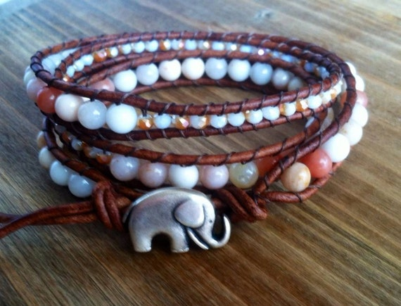 Lucky Elephant Gemstone Bracelet at Wrap It Up Boutique On Etsy
