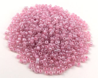Small Round Beads Candy Color - Glossy Pink - 3x2.5mm