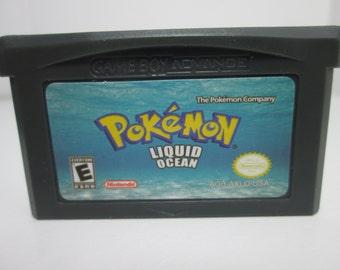 Pokemon Liquid Ocean fan made hack GBA Gameboy Advance