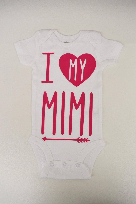 I Love My Mimi Onesie
