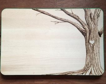 Woodburned Tree Cutting Board