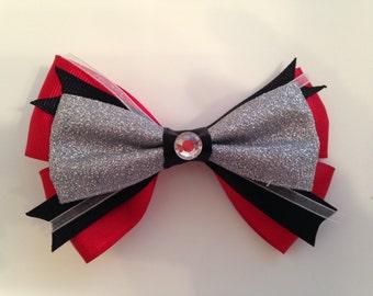 Red,black,white& silver