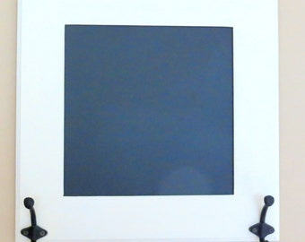 Hanging chalk board with hooks, Chalk board and hooks, Chalk board frame, Chalk board