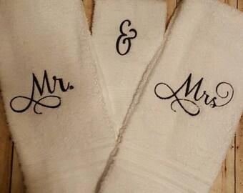 Mr. And Mrs. Bathroom towels