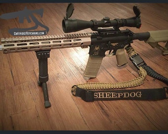 Embroidered Paracord Rifle Sling - Single Point - SHEEPDOG