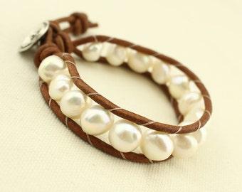 Braided bracelet, beaded bracelet, leather bracelet, pearl bracelet, knot bracelet, friendship bracelet, woven bracelet, S 030