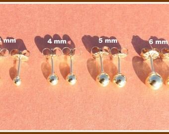 14k Goldfilled Ball Earrings, Gold Dot Earrings, Gold Stud, Tiny Ball Earrings, Little Ball Studs, Silver Stud, Stud Post Earrings, Fashion.