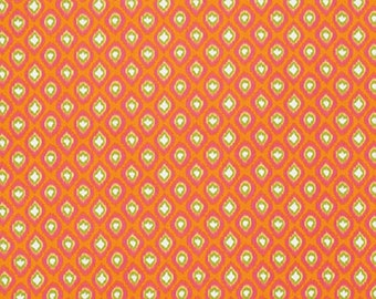 "Dena Designs  FreeSpirit ""Tangier"" Diamond Orange Cotton Fabric"
