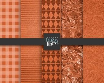 Digital paper: ORANGE TEXTURES | Instant Download | Scrapbooks | Metallic backgrounds | Digital texture