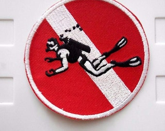Scuba Diving Pro Iron On Patch Scuba Diving Pro Iron On Patch