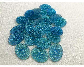 Oval flat back 30grams of embellishments