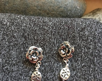 Roses and Flowers Earrings