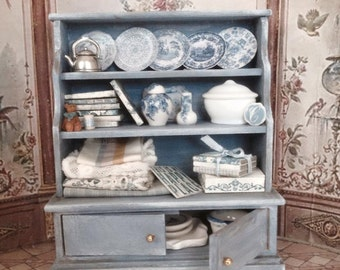 Shabby blue shelf