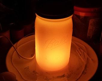 Beeswax Mason Jar Lamp