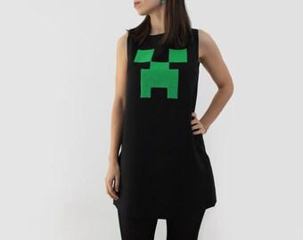 Creeper Dress Minecraft