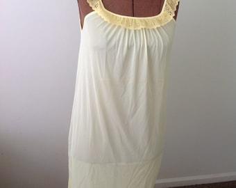 1960s semi-sheer yellow Nightgown