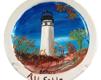 Au Sable Lighthouse 7 1/2 in, plate