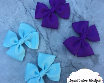Set Of 4 Light Blue & Purple Hair Pairs