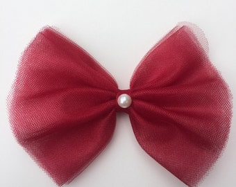 red tutu hair bow
