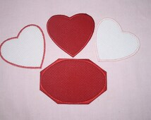 14 count Heart or Oval Patchmates Zweigart #3105, Your choice of 4 color options