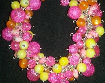 Crazy bright beaded bracelet