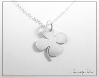 Clover Necklace, Lucky Necklace, Shamrock Necklace, 4 Leaf Clover Necklace, Heart Clover Necklace, Clover Jewelry