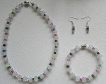 Fluorite & Swarovski Crystal