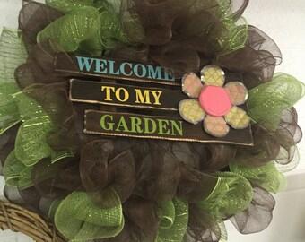 Welcome to my Garden Wreath