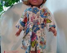 18inch doll sleepwear, 18inch doll robe and nightgown set, fits 18 in dolls