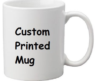 Personalised custom printed mug - your images and text professionally printed - gift boxed
