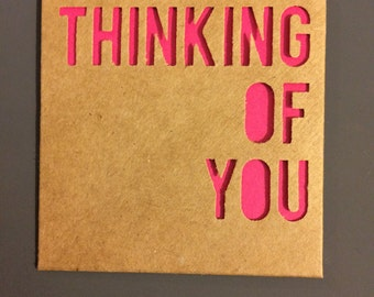 Thinking Of You little notecard
