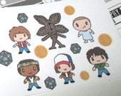 Stranger Things Character Stickers