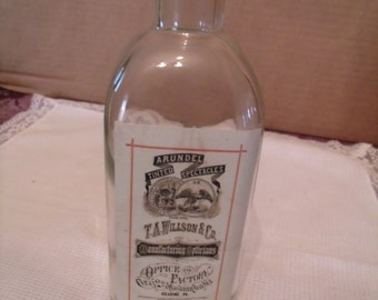 decorative Glass Bottle with Cork, T.A. willson co. Bottle