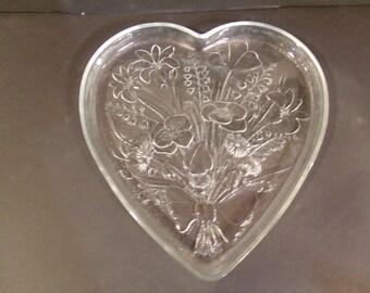Heart Shaped Glass Tray, (# 722/41)