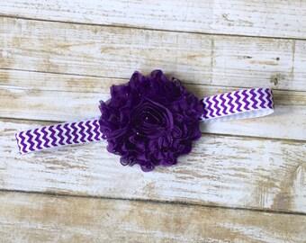 Purple Shabby Chic Headband/Shabby Flower Headband/Shabby Headband/Baby Headband/Infant Headband/Headband/Toddler Headband/Newborn Headband