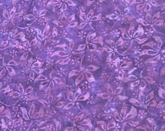 Purple Flower Batik Fabric
