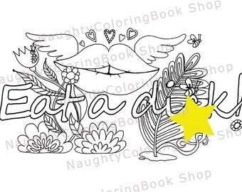 Eat A Dik Swear Words Printable Coloring Pages Word