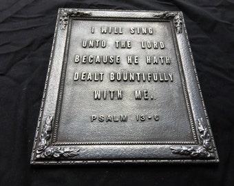 Bible Verse Wall Plaque/Desk Ornament/Paper Weight