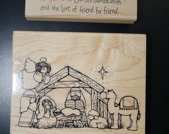 Christmas Nativity stamp by CTMH