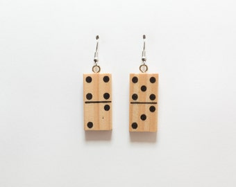 Miniature Domino Earrings