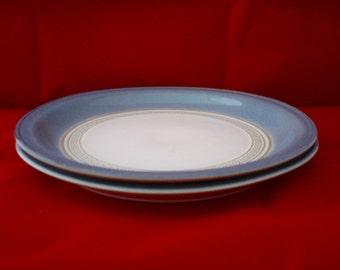 denby castile tea plates x 4