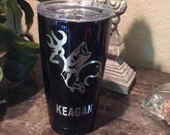 Custom Powder Coated Yeti, RTIC Cups, Deer hunting, Yeti, Duck Hunting, Fishing