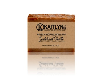 Sandalwood Vanilla Soap, Masculine Soap, Handmade, Vegan
