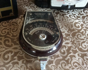 Vintage Bertram light exposure Meter made in Germany