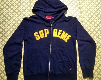 Vintage Supreme zip hoodie small  made in Canada