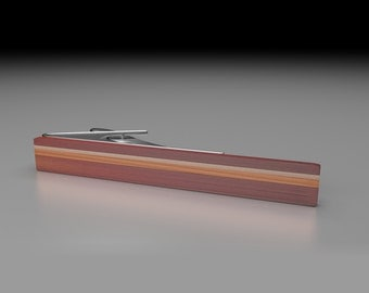 Tie Clip Walnut Hawaiian Koa Wooden Tie Bar